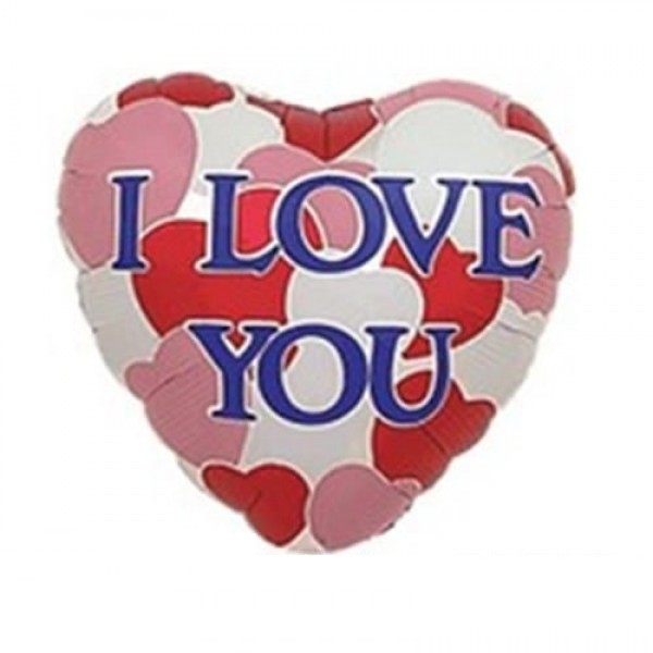 I love you Herz Folienballon - 45cm