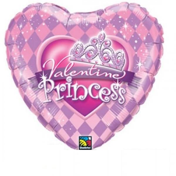 Valentine Princess Herz Folienballon - 45cm