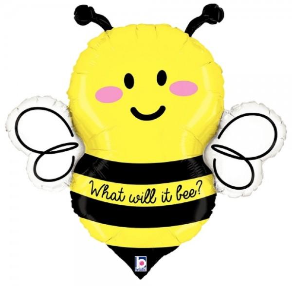 Biene What Will It Bee? Folienballon 86cm