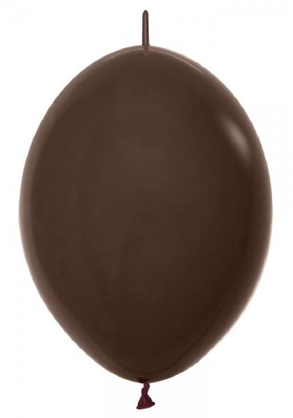 "Link o Loon 076 Fashion Solid Chocolate (Braun) Brown 30cm 12"" Latex Luftballons Sempertex"