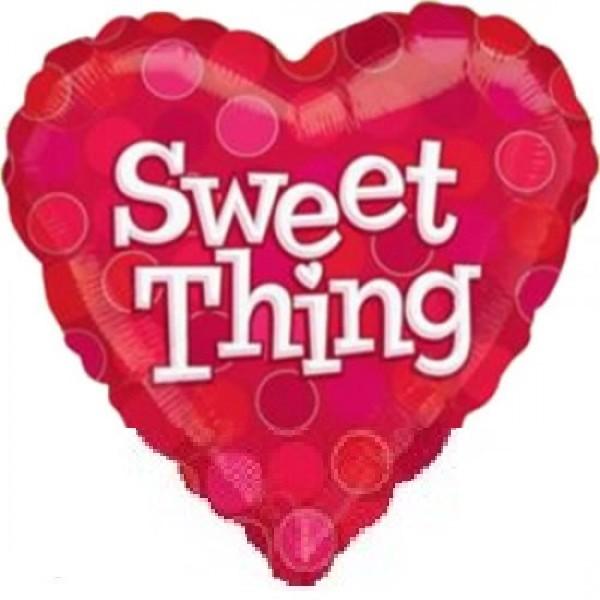 Sweet Thing Herz Folienballon - 45cm