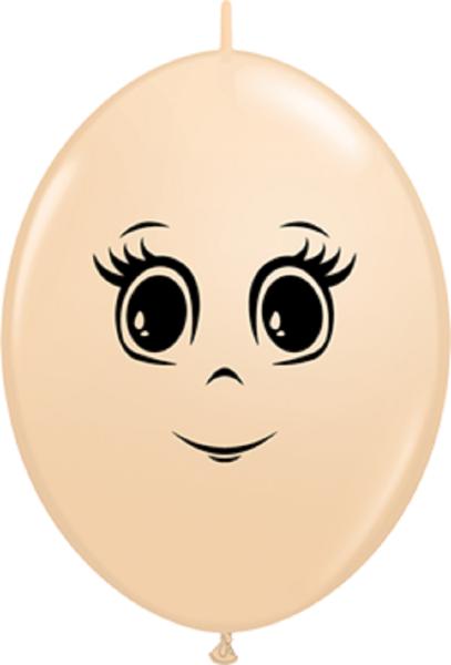 """QuickLink Feminine Face Blush 30cm 12"""" Latex Luftballons Qualatex"""