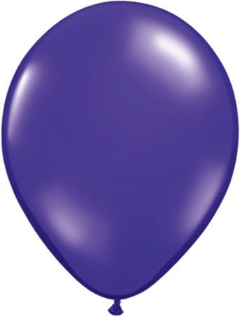 "Qualatex Jewel Quartz Purple (Lila) 27,5cm 11"" Latex Luftballons"
