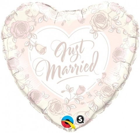 rosé Just married Herz - 45cm
