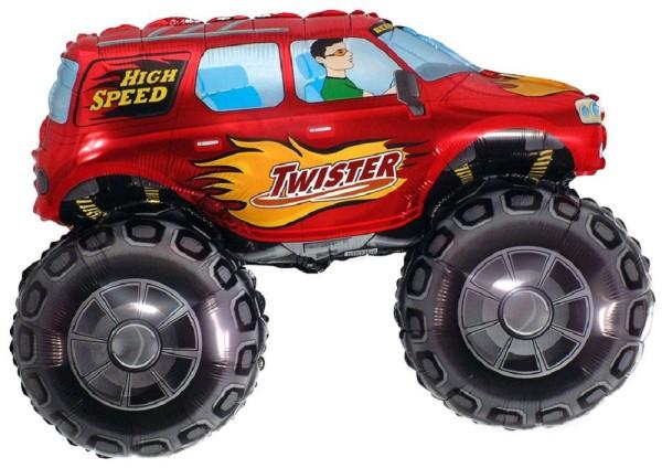 Monster Truck Rot Twister Folienballon - 96 x 68cm