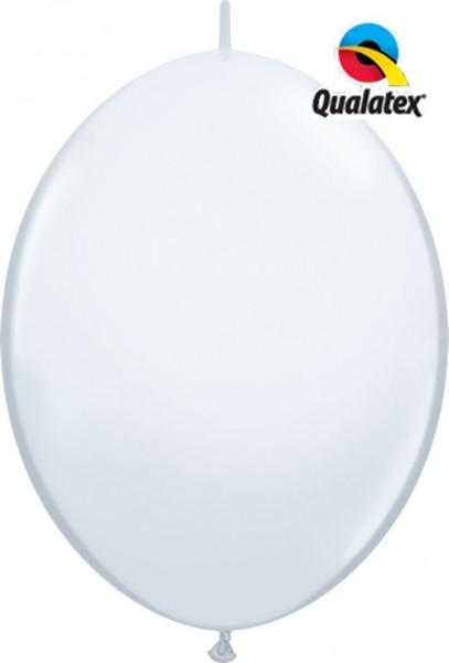 """QuickLink Standard White (Weiß) 30cm 12"""" Latex Luftballons Qualatex"""