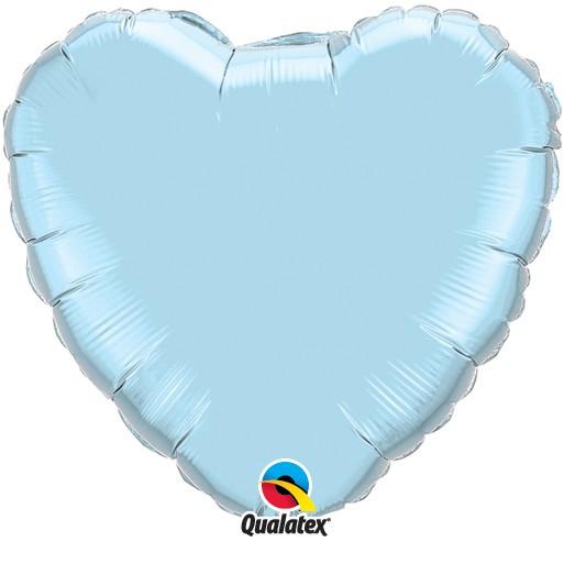Folienballon Herz Hellblau - 45cm