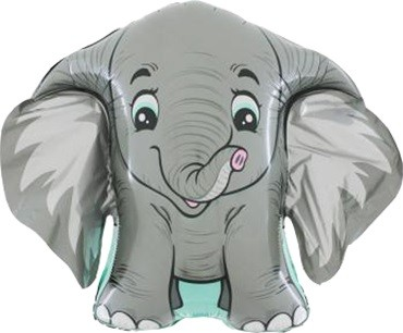 Elefant Folienballon - 70cm