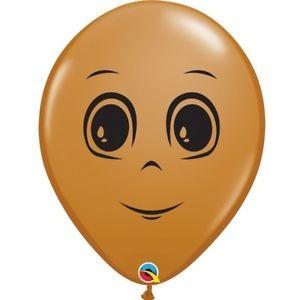 """Qualatex Gesicht Mann 12,5cm 5"""" Latex Luftballon"""