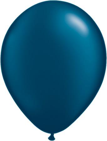 Latex Luftballons Pearl Midnight Blue (Mitternachtsblau) 25 St. - 27,5 cm