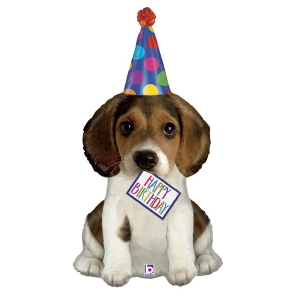 Happy Birthday Welpe Hund Folienballon - 35cm 14''