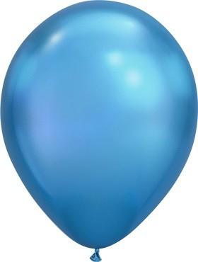 Latex Luftballons Chrome Blue (blau) - 7'' 18cm 100St