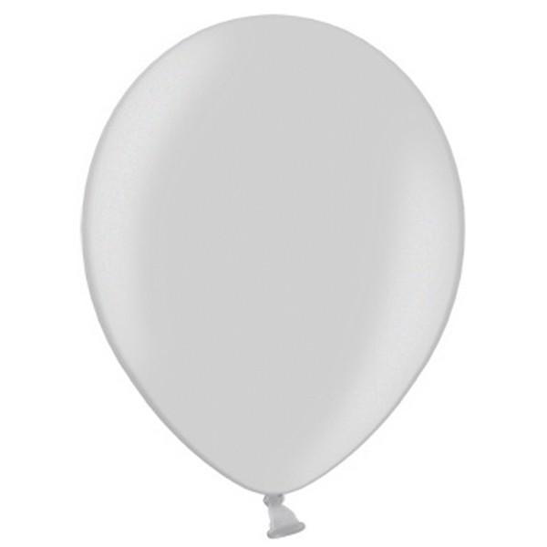 Latex Luftballons Metallic Silver 061 (Silber) 100 St. - 27,5cm