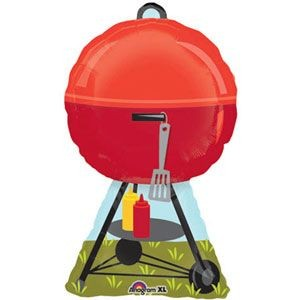 Barbecue Kugelgrill BBQ Folienballon - 76cm