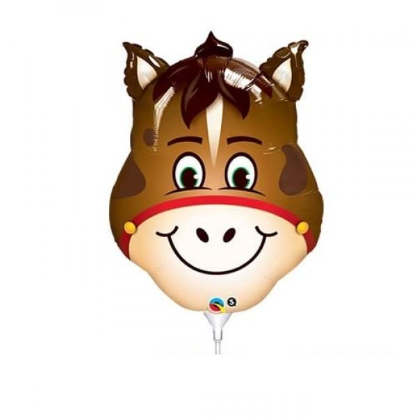 Mini Folienballon Pferde Kopf - 35cm
