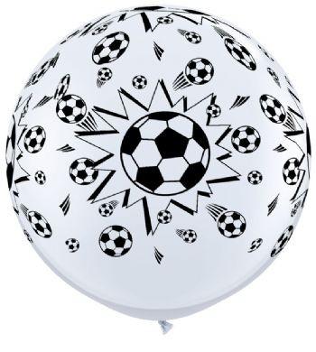 """Riesenluftballon Fussball Soccer 90cm 36"""""""