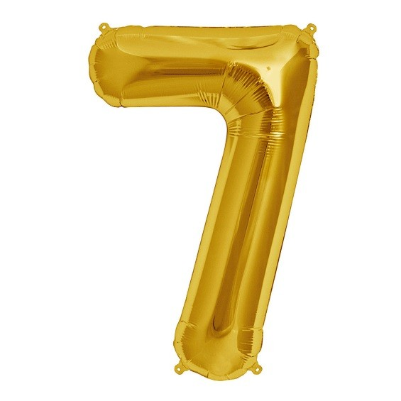 North Star Folienballon Zahl 7 (gold)