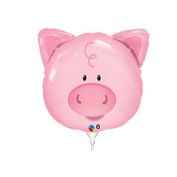 Mini Folienballon Schweine Kopf - 35cm